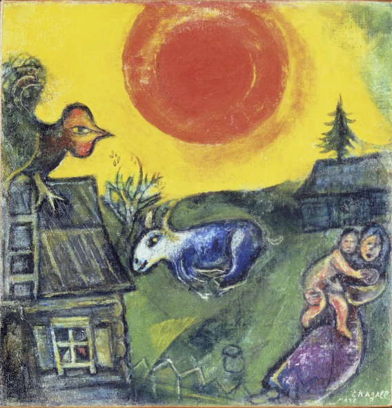 Farm and Red Sun Chagall